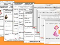 Grammar Year 4 Punctuating Direct Speech Spring Block 2 Step 2 Lesson Pack