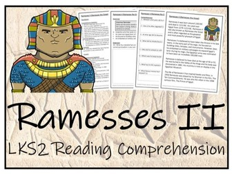 LKS2 Ancient Egypt - Ramesses II Reading Comprehension Activity