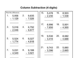 likewise Vertical Subtraction Worksheets Vertical Addition Other Size S in addition Subtraction   Expanded Column Method 3   Teach My Kids moreover 3 Digit Addition Worksheets also  further Subtraction with Regrouping Worksheets besides column addition worksheets year 3 in addition KS2 Subtraction Worksheets   KS2 Primary Resources furthermore Subtraction Worksheets likewise Column Subtraction  4 digits  by fuzzy90   Teaching Resources further Written subtraction  crossing the tens boundary likewise Column Method Addition Worksheets Column Method Addition And in addition Formal Subtraction  A year 4  subtraction worksheet furthermore Vertical Addition Worksheets Grade 2 Math Elegant Subtraction Column as well 3 Column Addition Worksheets Digit And Subtraction Year Kindergarten besides . on subtraction using column method worksheet