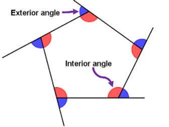 Set of gcse maths foundation whole lessons by samcurran1 - Exterior angle of a polygon formula ...