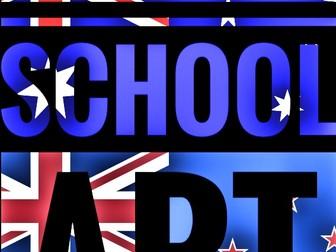 Art. Back to school - Australia and New Zealand. ART