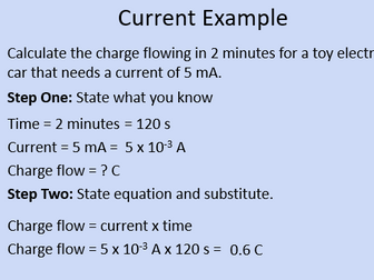 GCSE Physics: Electrical Current