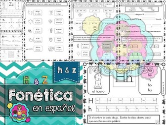 Spanish Phonics Book Set #11: Letras h & z