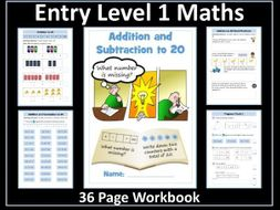 Addition and Subtraction to 20: AQA Entry Level Maths
