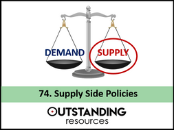 Economics: Lesson 73 - Aggregate Supply & Supply Side Policies (+ worksheet)