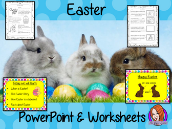 Easter PowerPoint and Worksheets