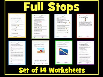 Full Stops - Set of 14 Differentiated Worksheets