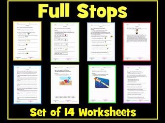 Full Stops Worksheets