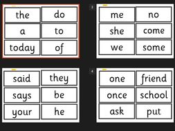 year 1 word flash cards new curriculumexception words literacy ks1