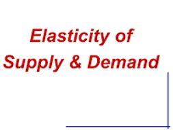 AS Economics Elasticities Condensed Notes