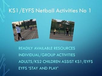 KS1/EYFS Netball Activities