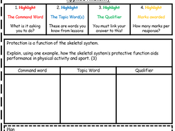 GCSE PE NEW SPEC REVISION - Exam Question Analysis - How to deconstruct an exam question