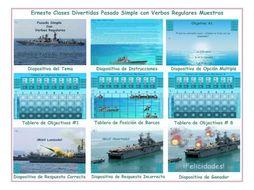 Past Simple with Regular Verbs  Spanish PowerPoint Battleship Game