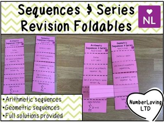 Sequences & Series Revision Foldable