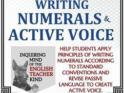 High School Grammar Packet Writing Numerals And Using Active Voice