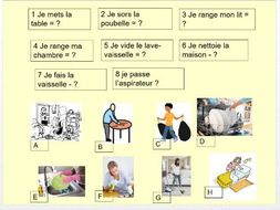 Household chores in French