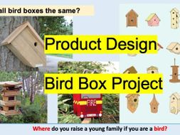 Bird Box House Design and Make Scheme of Work Orphographic/isometric Sketching and Joining SOW