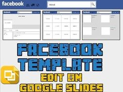 Facebook Template Editable On Google Slides By Rombop Teaching