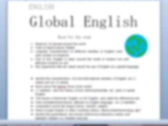 AQA English Language- Global English