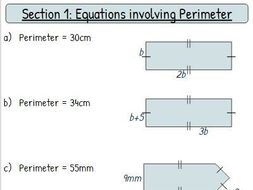 Forming And Solving Equations Worksheet Mixed Geometry By