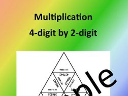 Multiplication – 4-digit by 2-digit – Math Puzzle