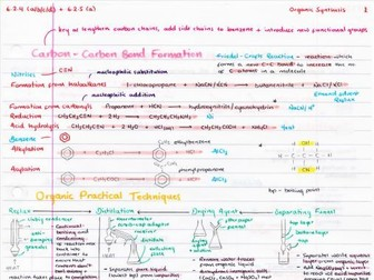 OCR A Level Chemistry Organic Synthesis (A2) Revision Poster