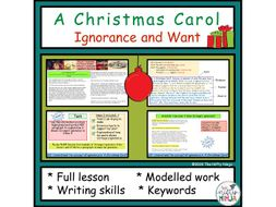 A Christmas Carol: Ignorance and Want Introduction   Teaching Resources