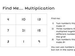 Find Me - Problem Solving Maths