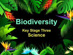 AQA Biodiversity KS3 Worksheets cover