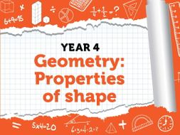 Year 4 - Geometry - Properties of Shape - Summer - Block 5 - BUNDLE White Rose