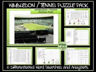 Wimbledon / Tennis Puzzle Pack