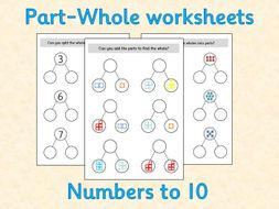 Part-Whole Maths Worksheets - White Rose inspired - Reception
