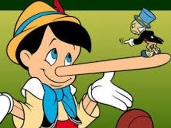 Description Pinocchio, clothes,colours, physical feat, reading matching t, adjective, connective