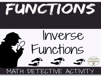 Inverse Functions Activity The Math Detective
