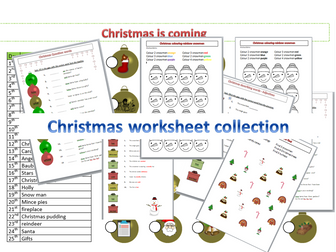 collection of Christmas worksheets
