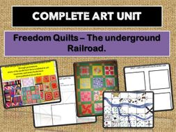 COMPLETE ART SCHEME OF WORK  - FREEDOM QUILTS ( linked to the Caribbean/slavery topics).
