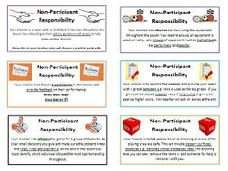 Non-Participant cards for PE