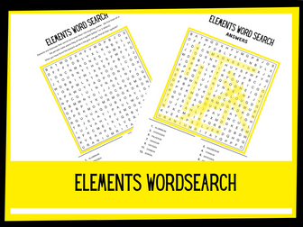 Elements wordsearch | KS1 KS1 Science