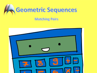 Matching Pairs Geometric Sequences