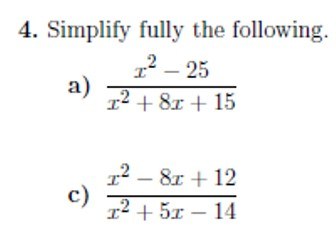 Expanding, factorising and simplifying algebraic expressions worksheet no 2  (with solutions)