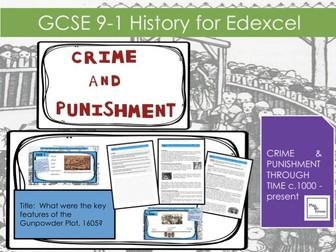 Edexcel GCSE  9-1 Crime & Punishment: L15  What were the key features of the Gunpowder Plot, 1605?