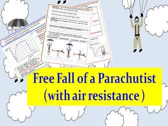 Free fall of a parachutist