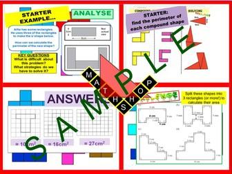 Area including Compound Shapes GCSE Revision
