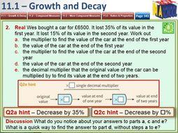 Mathematics 9-1 - GCSE - Unit 11 - Multiplicative Reasoning - Growth, Decay, Ratio, Proportion.