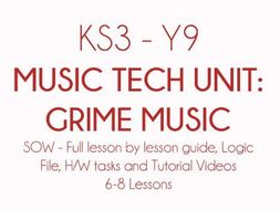 KS3 Y9 Music Technology Project