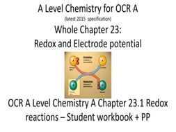 A Level Chemistry for OCR A            Chapter  23.1  Redox reactions