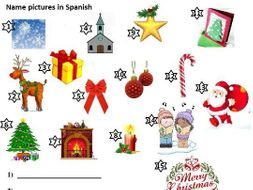 Christmas Spanish.Christmas Navidad Spanish Spelling Worksheet Crossword Puzzles Definition 22 Pg