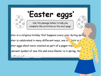 Easter Literacy Bundle- Comprehension and Poetry