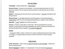 Rossetti Poetry Detailed Language Analysis