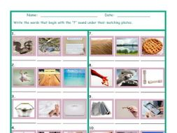 Phonics F Sound Photo Worksheet